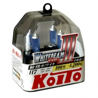 Koito Whitebeam III H7 P0755W 4200K 12V 55W (100W) - 2 шт. лампы галогенные H7 купить цена
