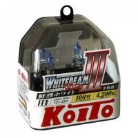 Koito Whitebeam III H1 P0751W 4200K 12V 55W (100W) - 2 шт. лампы галогенные H1 купить цена