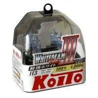 Koito Whitebeam III H3 P0752W 4000K 12V 55W (100W) - 2 шт лампы галогенные H3 купить цена