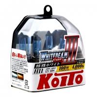 Koito Whitebeam III H11 P0750W 4000K 12V 55W (100W) - 2 шт. лампы галогенные купить цена